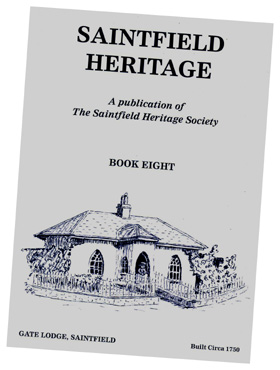 Cover of Saintfield Heritage Society's Saintfield Heritage book, Volume 8.
