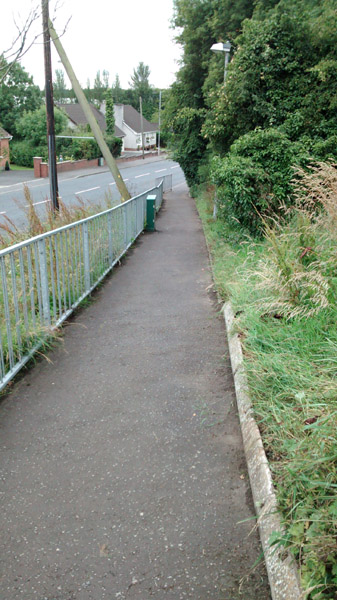 Belfast Road - Comber Road link path cleaned