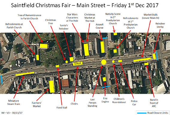 Saintfield Christmas Fair - Friday 2nd December